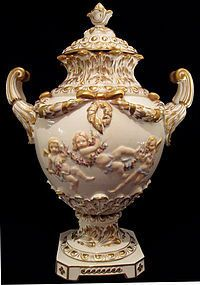Capo-Di-Monte Covered Urn