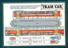 G1508 3-D Cut Out Postcard Fiddlers Green Tram Car