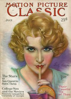 Vintage Movie Magazine  - July 1929, Betty Compson in pic