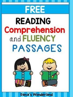 Free Reading COMPREHENSION and FLUENCY Passages - This product contains three reading passages that you can use to practice reading fluency and comprehension. They are offered in 2 formats so you can pick the format that works best for you.