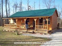 Amish Cabins and Cabin Kits - Amish Made portable cabins, Shepherdsville, KY Cabin House Plans, Cabin Floor Plans, Cabin Kits, Family House Plans, Tiny House Cabin, Log Cabin Homes, Small House Plans, Log Cabins, Amish Cabins