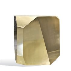 HEDGE STONE SIDE TABLE in BRASS - SOUTHHILLHOME.COM