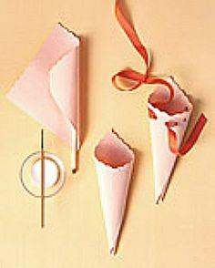 DIY cones for throwing petals