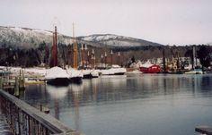 Camden Harbor in winter
