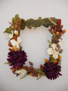 Autumn Picture Frame Wreath