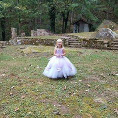Blush & Champagne Tutu Dress- Flower Girl Dress- Princess Dress- Blush Dress- One Shoulder Dress Blush Tulle Skirt, Blush Flower Girl Dresses, Princess Flower Girl Dresses, Blush Flowers, Cream Flowers, Blush Dresses, Baby Girl Dresses, Tulle Dress, Wedding Dresses
