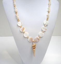 Seashell jewelry | Spiral Turitella Shell Necklace