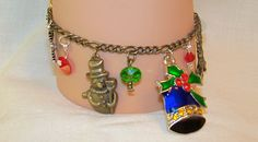 Christmas Antique SilverToned Charm Bracelet with by Ricksiconics, $15.00