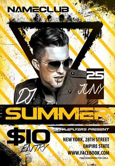 Dj Summer Party Flyer Template - http://freepsdflyer.com/dj-summer-party-flyer-template/ Enjoy downloading the Dj Summer Party Flyer Template by Styleflyers!  #Club, #Dj, #EDM, #Electro, #Event, #Party, #Techno, #Trance