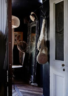 Sibella Court and Ben Harper - The Design Files   Australia's most popular design blog. Dark Walls Living Room, Dark Rooms, Black Grout, Interior And Exterior, Interior Design, Interior Walls, Dark House, Deco Boheme, Dark Interiors