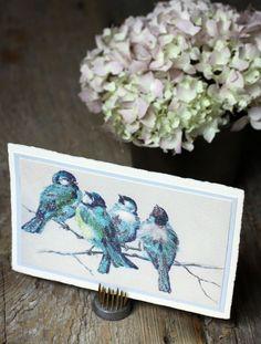 Bird cards (with glitter!)