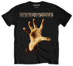 System of a Down Mens Tee: Hand