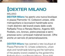 Shopping Milano Roma 19 Settembre 2012 Rassegna stampa sulla nuova apertura della boutique di Dexter Milano in Piazza Piemonte 10