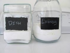 Homemade laundry and dish detergent