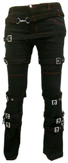 nice Destruction SteamPunk Gothic bondage Pants by http://www.polyvorebydana.us/gothic-fashion/destruction-steampunk-gothic-bondage-pants/