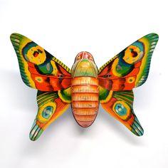 vintage tin toy butterfly (1) tin litho Alps Japan offered by Elizabeth Rosen. $54.00, via Etsy.