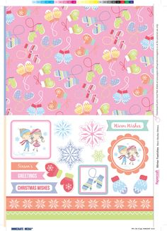 Winter skating free printable papers from Papercraft inspirations issue 144