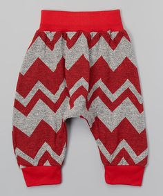 Another great find on #zulily! Red Zigzag Tribal Pants - Infant, Toddler & Girls #zulilyfinds