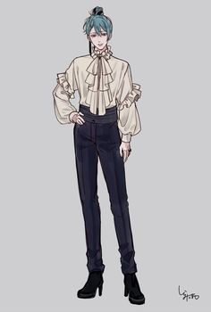 Twitter Character Outfits, Character Art, Fashion Design Drawings, Vintage Fashion Sketches, Poses References, Anime Poses Reference, Drawing Clothes, Drawing Poses, Boy Art
