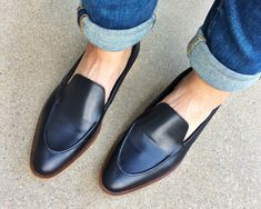 You know I'd been searching for a black loafer, and am pleased to say I've found the ones I'll wear for quite some time.  The pointy toe is different for me, but very modern, and bonus! leg elongat...