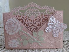 Unique Cards, Creative Cards, Diy And Crafts, Paper Crafts, Tattered Lace Cards, Spellbinders Cards, Paper Lace, Butterfly Cards, Heartfelt Creations