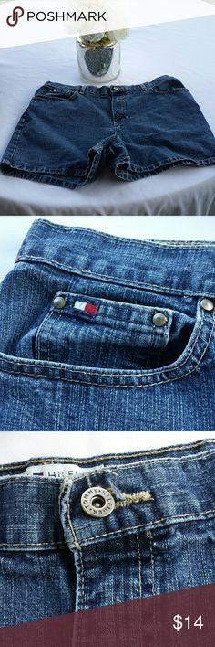 Tommy Hilfiger Denim Jean Shorts Size 14  j-23 Tommy Hilfiger Denim Jean Shorts Size 14. Very Small Hole In Front As Pictured Tommy Hilfiger Shorts Jean Shorts