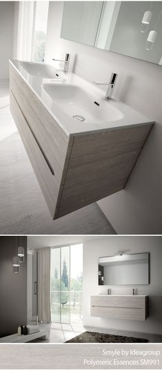Smyle Collection by #Ideagroup. Finishes: Polymeric Essences SM 991. #Design #Bathroom #MadeinItaly