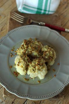 Cinco Quartos de Laranja: Couve-flor com molho de iogurte e sementes de girassol