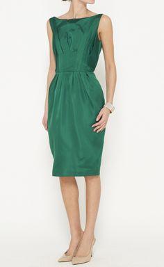 Max Mara Emerald Dress - the perfect jewel tone.