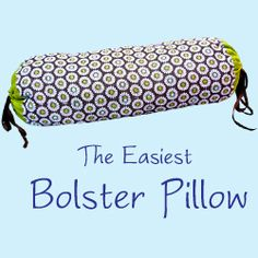 Make a bolster pillow to decorate your house. Step by step tutorial. You only have to sew rectangles!