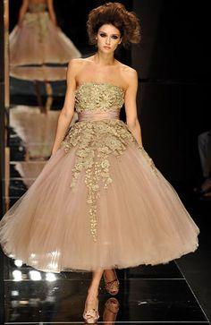 sin tirantes 2014 un cordón de la cinta de la línea de tul de tobillo longitud champán elie saab vestidodenoche