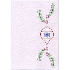 Stitching Cards Bookmark Bauble