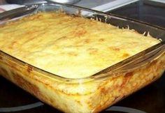 Rakott tészta darált hússal Hungarian Recipes, Mediterranean Recipes, Food And Drink, Vegetables, Ethnic Recipes, Diet, Veggies, Vegetable Recipes
