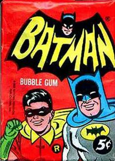 """""""Batman"""" Bubble Gum Trading Cards wrapper    More valuable than money to a kid in the 60's"""