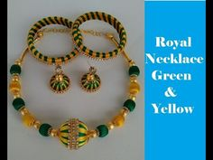 How to make a Necklace – Green and Yellow| Silk Thread | DIY