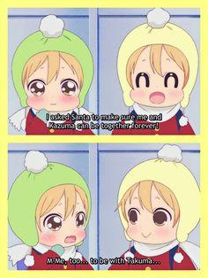 TAKUMA x KAZUMA!  Gakuen Babysitters - Christmas. Anime Chibi, Kawaii Anime, Manga Anime, Gakuen Babysitters, Love Stage, Makoharu, Baby Drawing, Bleach Manga, Baby Sister