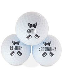 Cute wedding day golf accessories!