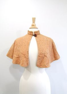 Vintage Wool Capelet 1960s Peach Cape by RedsThreadsVintage, $34.00