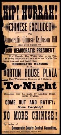 The Chinese Exclusion Act passed in 1882 marks the first time that the United States banned any group of people based on race or nationality.