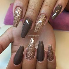 "Roséglitter och ""Vanilla Brown"" från #lillynails Nails 2018, Manicure And Pedicure, Autumn Nails, Nail Ideas, Nail Art Designs, Nail Art Ideas, Fall Nails, Spring Nails"