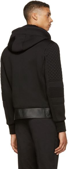 Neil Barrett Black Double-Layered Biker Jacket