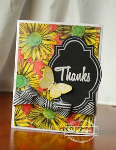 Card by Becca using Bloom Sketches and Daisy Dance stencil