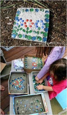 Kid Friendly DIY Concrete Stones