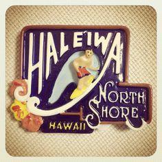 オアフ島のノース、ハレイワのマグネットです。これ超Cool!!欲しくて欲しくて仕方なかったマグネットです。ハレイワのシンボリックなサインとしてめちゃくちゃ有名で実際にハレイワの入口近辺に2か所あります。6ドル+taxでした。