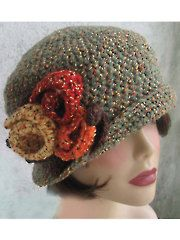 Crochet Brimmed Flapper Hat Pattern Download from AnniesCatalog.com. Order here: https://www.anniescatalog.com/detail.html?prod_id=109269