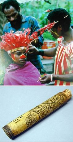 Papua New Guinea Body Painting - part of the Body Arts web from Pitt Rivers Virgual Collections, University of Oxford, England Red Pigment, Art Web, Oxford England, Body Adornment, Body Modifications, Papua New Guinea, Highlands, People Around The World, Rivers