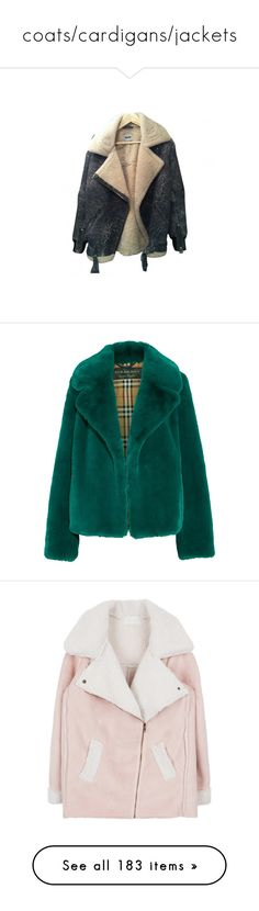 """""""coats/cardigans/jackets"""" by madlenvarhol ❤ liked on Polyvore featuring cardigans, coats, outerwear, jackets, coats & jackets, yellow coat, fur, burberry, imitation fur coats and green coat"""