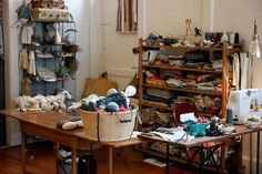 Studio of dollmaker Jess Brown. Featured on Smaller (a journal of inspiration from the editors of Small). Posted 09/02/2010