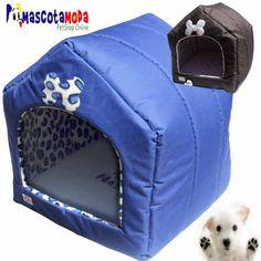 Casa en lona para perros miniatura y medianos muy comoda y abrigada.