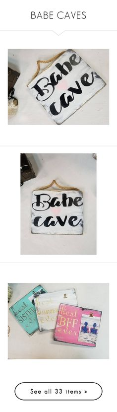 """""""BABE CAVES"""" by theworldisatourfeet ❤ liked on Polyvore featuring home, home decor, wall art, heart home decor, door signs, heart sign, door wall art, heart wall art, Diptyque and Pom Pom at Home"""
